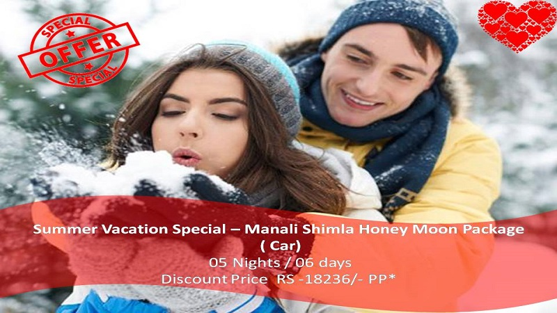Manali Shimla Honeymoon Packages by Car